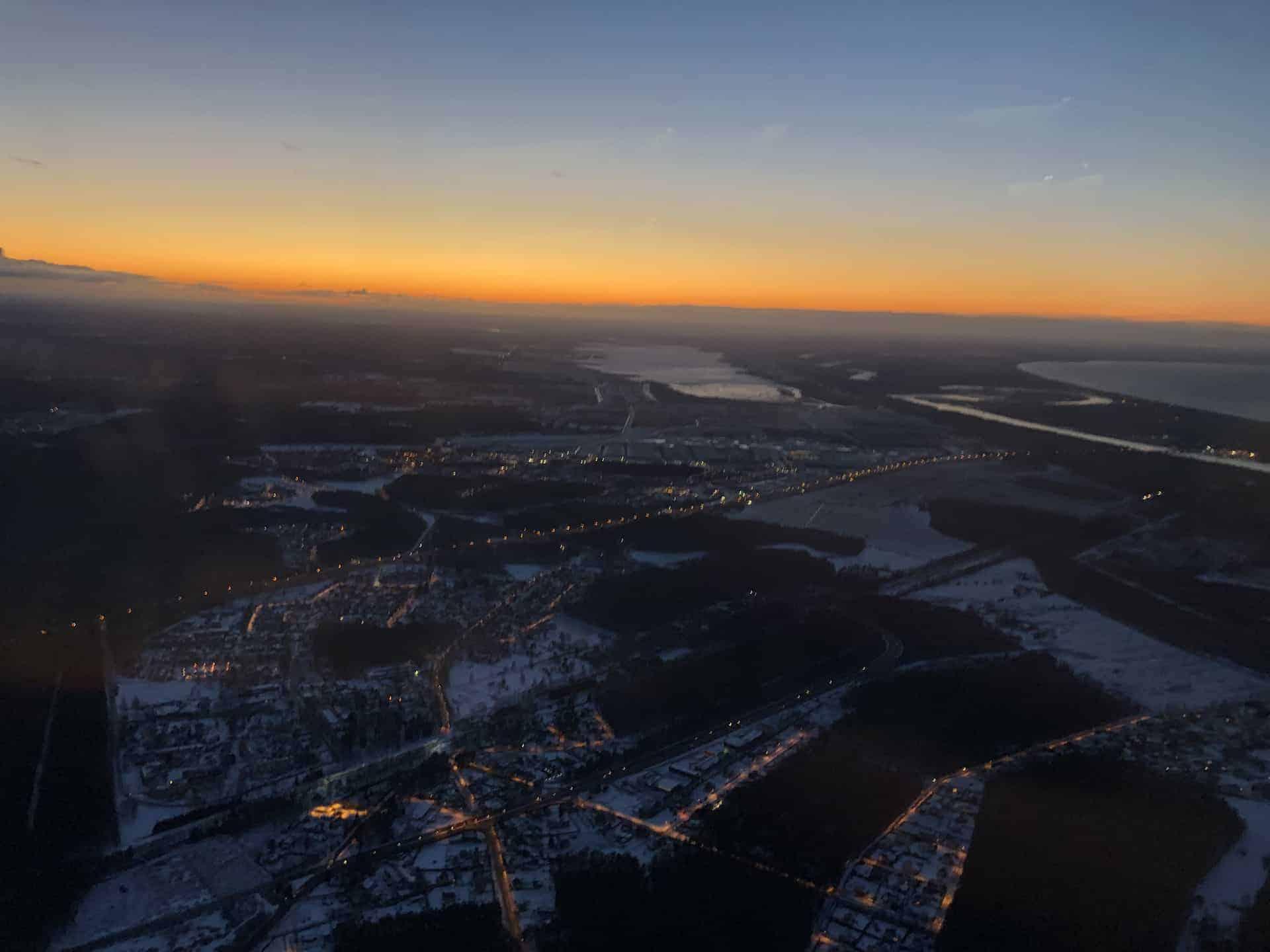 Lettland aus dem Flugzeug
